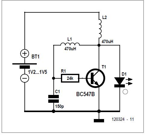One-transistor Voltage Converter Schematic Circuit Diagram