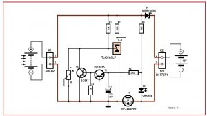 4 Amps Photovoltaic Charge Controller Schematic Circuit Diagram