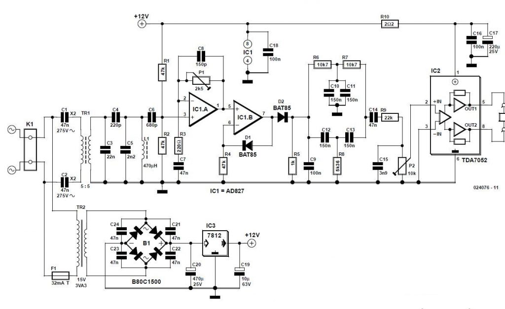 AM Demodulator for Intercom Schematic Circuit Diagram