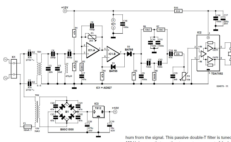 AM Demodulator for Intercom Schematic Circuit Diagram
