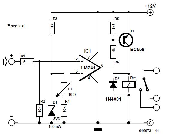 Overvoltage Protection Schematic Circuit Diagram