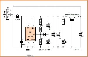 Slow-Start Stabilizer Schematic Circuit Diagram