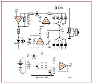 Wideband Wien Oscillator Schematic Circuit Diagram