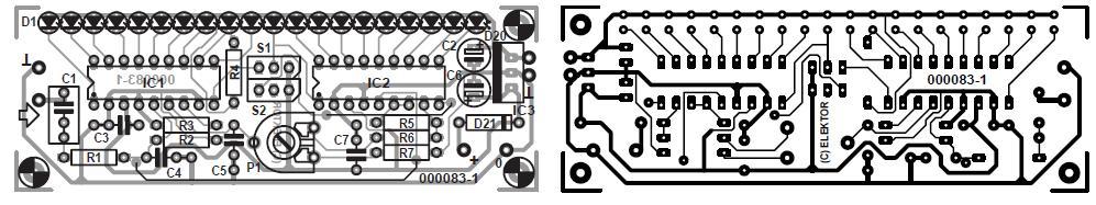 60-dB LED VU Meter Schematic Circuit Diagram 2