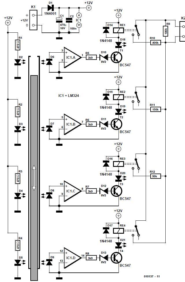 Low-cost Position Sensor Schematic Circuit Diagram