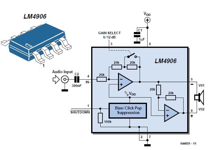 M4906 Boomer® Audio Power Amp Schematic Circuit Diagram