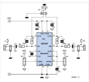 3 V Headphone Amplifier Schematic Circuit Diagram