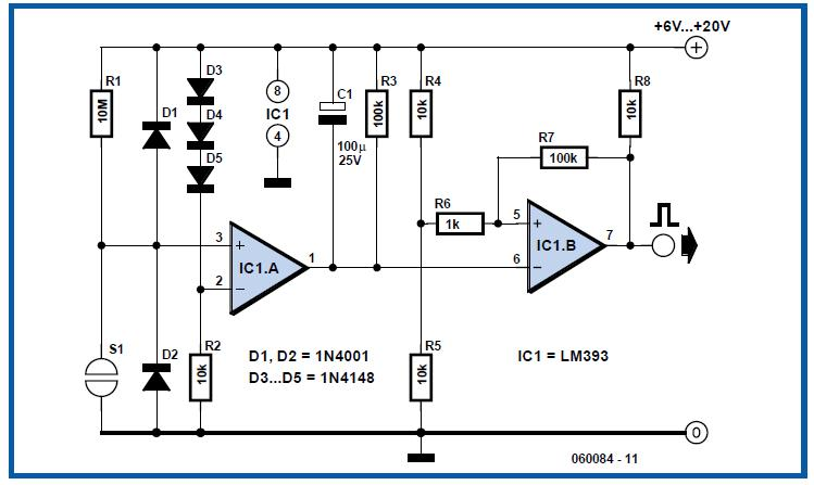 Electronic Touch Switch Schematic Circuit Diagram