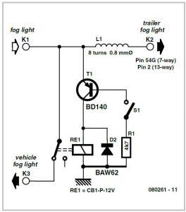 Fog Lamp Switch Schematic Circuit Diagram