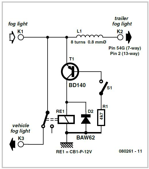 Fog Lamp Switch Schematic Circuit Diagram