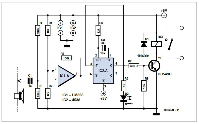 Auto-off for Audio Gear Schematic Circuit Diagram