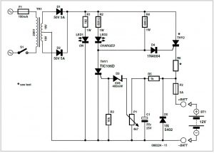 Automatic Car Battery Charger Schematic Circuit Diagram