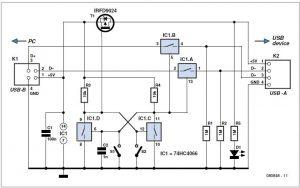 Simple Temperature Measurement and Control Schematic Circuit Diagram