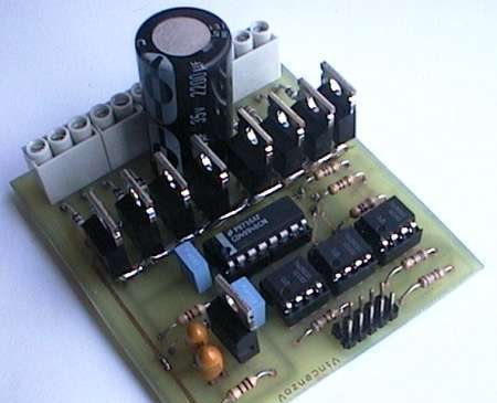 CD4094B 6N135 ISOLATED UNIPOLAR STEPPER MOTOR DRIVER SCHEMATIC CIRCUIT DIAGRAM.
