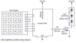PWM motor speed control using Arduino Schematic Circuit Diagram 2