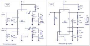 TDA2822-amplifier-circuit-BTL-Stereo-Schematic-Circuit-Diagram