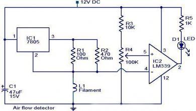 Photo of Air Flow Detector Circuit Diagram
