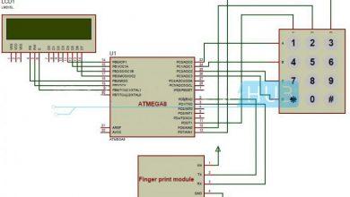 Photo of Biometric Attendance System Circuit