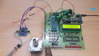 Photo of Stepper Motor Control using 8051 Microcontroller